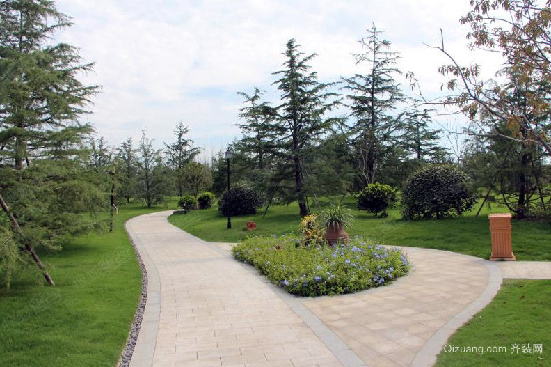 大型人民休闲公园道路设计效果图