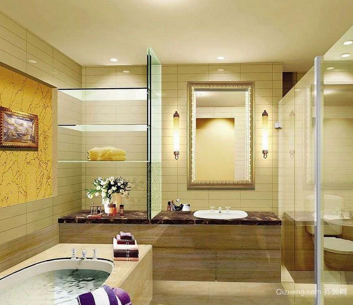 100平米大户型欧式洗手间装修效果图实例欣赏