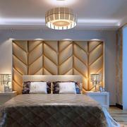 欧式简约风格浅色卧室背景墙