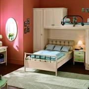 混搭三室一厅儿童房双层床装修设计图