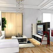 80平米现代简约风格单身公寓客厅装修效果图