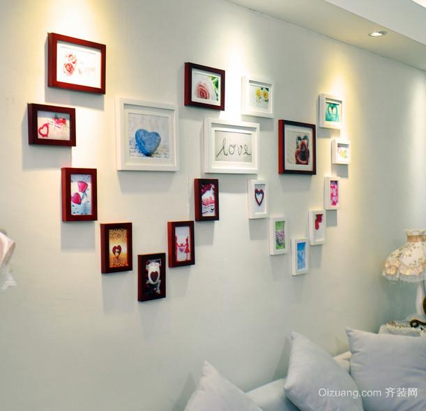 跃层精致型照片墙设计效果图