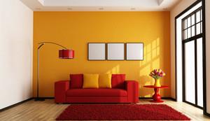 精致40平米小户型橙色客厅装修图片