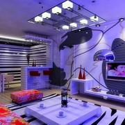 紫色调室内效果图片