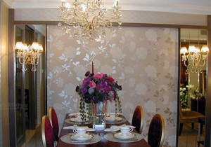 大户型唯美型餐厅背景墙效果图