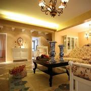 100平米房屋田园风格客厅装饰