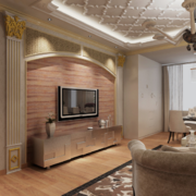 欧式大户型硅藻泥电视背景墙装修效果图鉴赏