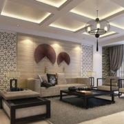 2016现代欧式大户型沙发背景墙装修效果图