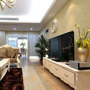 大户型客厅欧式电视柜装修效果图