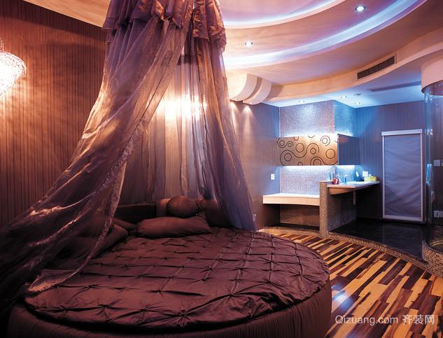 现代简约风格卧室圆形床饰装修效果图