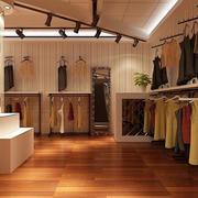 都市简约风格女性服装店装修效果图