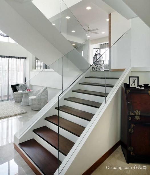 现代主义风格错层家居楼梯设计效果图