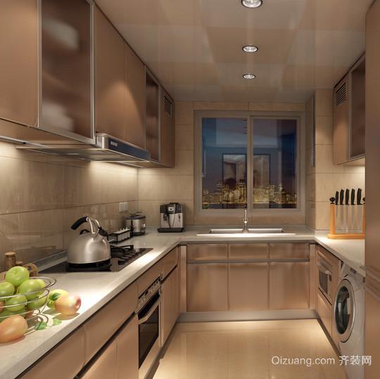 复式楼现代简约风格厨房装修效果图