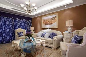 地中海风情三室一厅室内装修效果图
