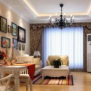 120平米复式楼欧式简约风格客厅装修图