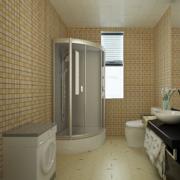 2016现代欧式大户型卫生间装修效果图鉴赏