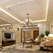 欧式奢华客厅吊顶装饰