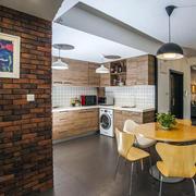 室内厨房实木橱柜