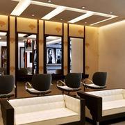 70平米后现代风格精致理发店装修效果图