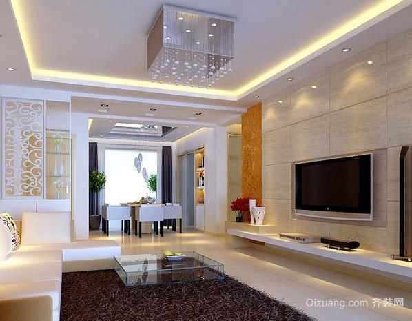 两室一厅现代简约风格新房客厅装修效果图