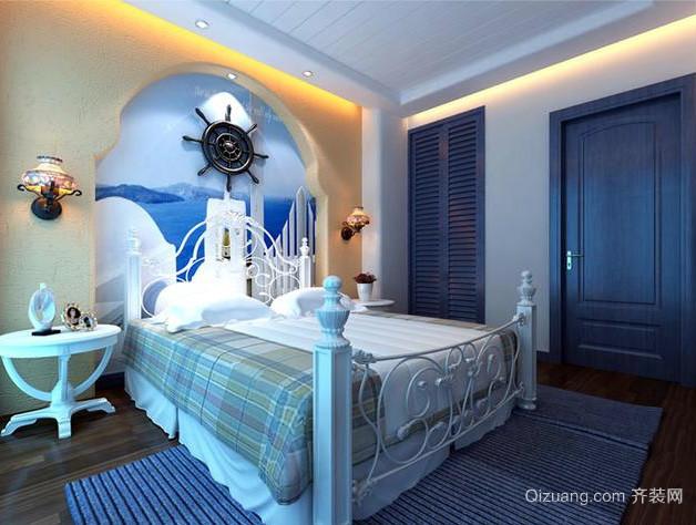 两室一厅地中海风格卧室装修效果图