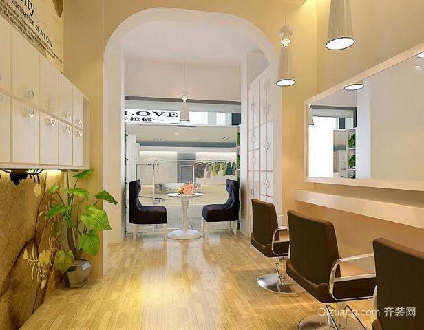 70平米欧式简约风格发廊装修效果图
