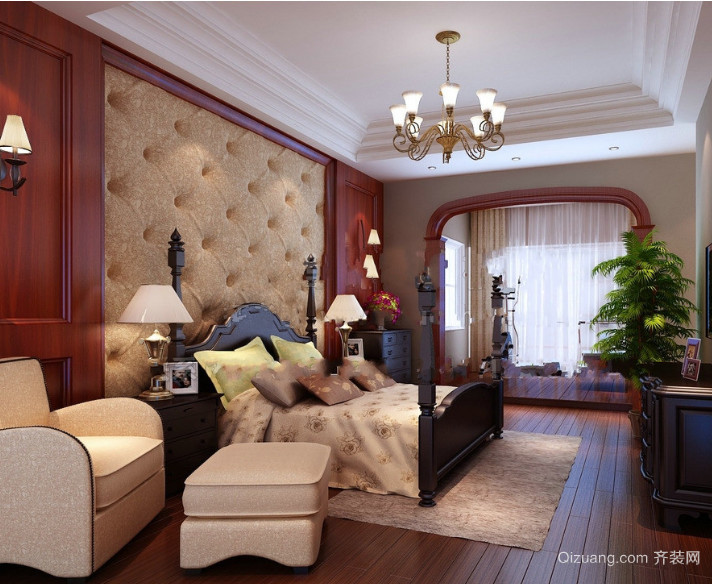 2016现代欧式精美的小户型卧室装修效果图