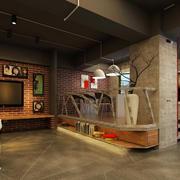 复古错层120平米影楼室内装修设计效果图