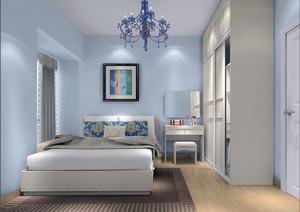 小户型2016一居室法式卧室背景墙装修设计效果图