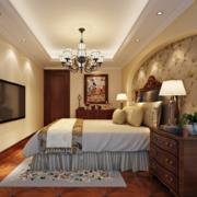 现代欧式别墅型精美的欧式卧室装修效果图
