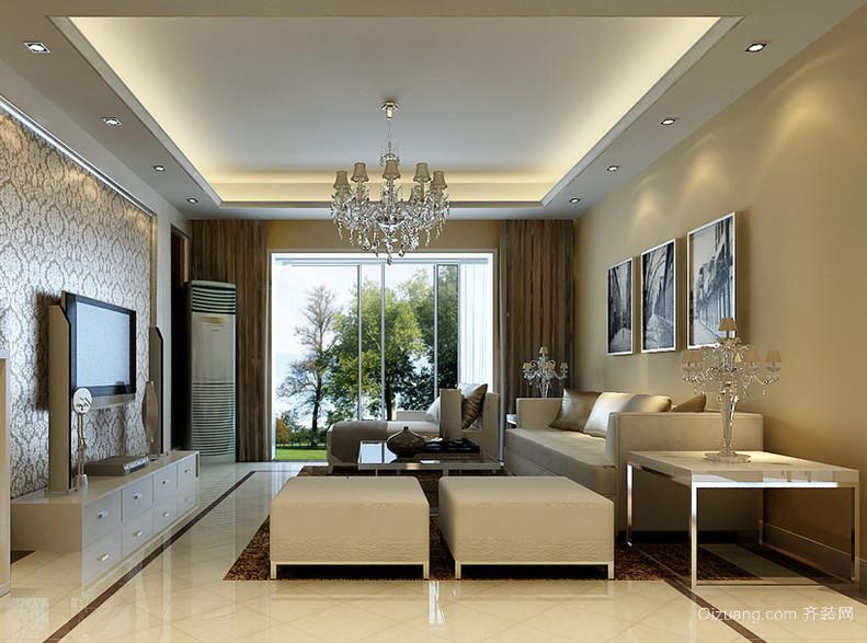 2016唯美别墅型简欧风格客厅装修效果图欣赏