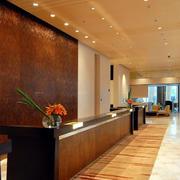现代大型商务酒店吧台设计装修效果图