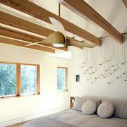 北欧简约风格卧室生态木吊顶装修效果图