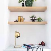 室内墙壁实木置物架