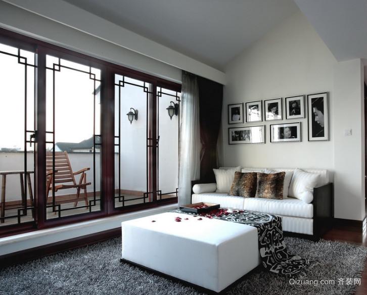 120平米唯美的大户型中式客厅装修效果图欣赏
