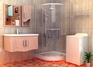 跃层精致型卫生间装修效果图