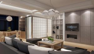 现代主义风格80平米客厅设计效果图