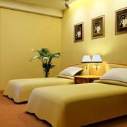 现代简约风格双人床宾馆装饰