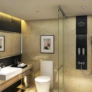 商务酒店现代简约卫生间设计装修效果图