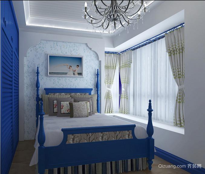 70平米小户型地中海风格卧室装修效果图欣赏