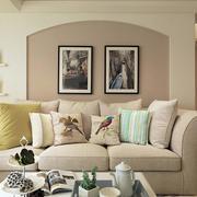 室内沙发背景装饰画