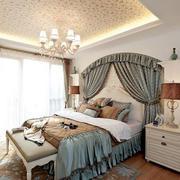 30平米美式简约风格卧室装修效果图