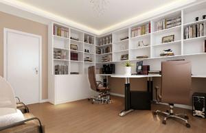 别墅都市风格书房设计装修效果图