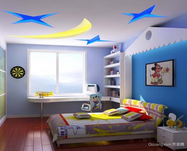 90平米现代大户型儿童房装修效果图实例欣赏