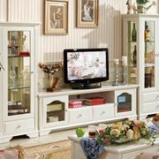 田园欧式大户型客厅电视柜装修效果图