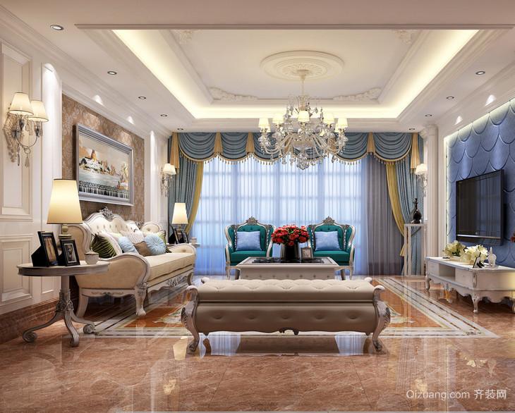 2016大户型欧式卧室背景墙装修效果图鉴赏高清图片