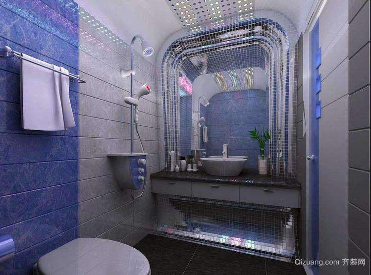 商务酒店地中海卫生间设计装修效果图