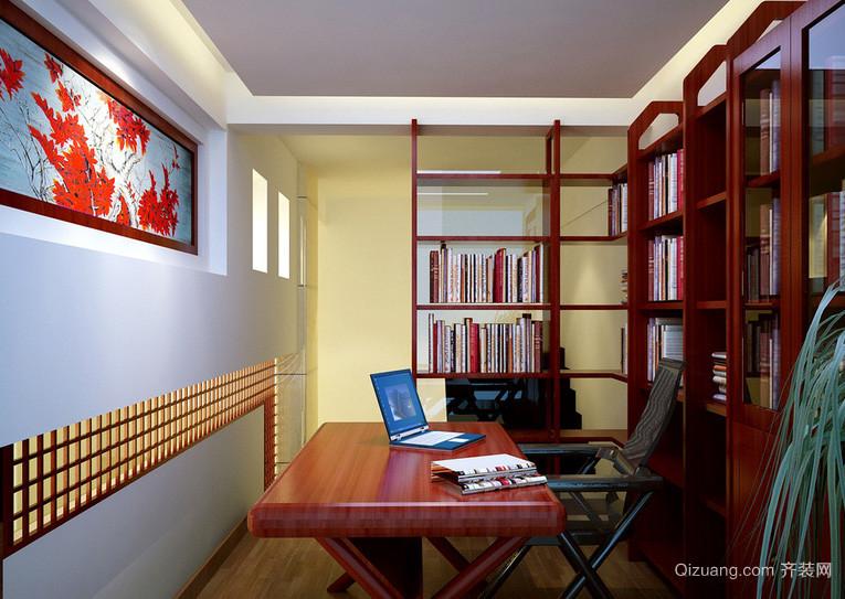 别墅富有涵养书房设计装修效果图