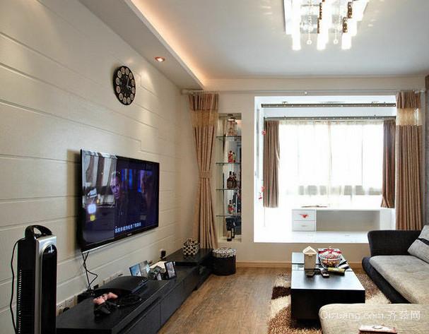 跃层现代简约风格客厅装修效果图