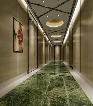 180平米大型简欧风格饭店过道吊顶装修效果图